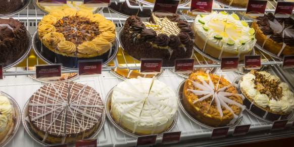Cheesecake Factory menu