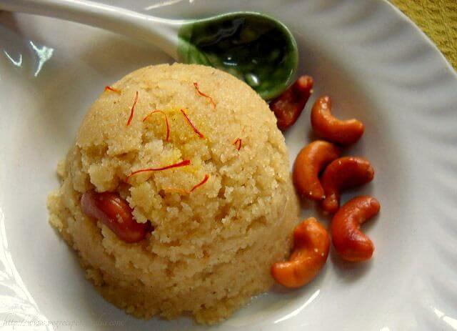 Zafrani Sooji Halwa recipe