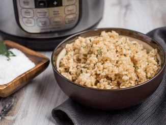 Brown Rice Made from Rice Cooker