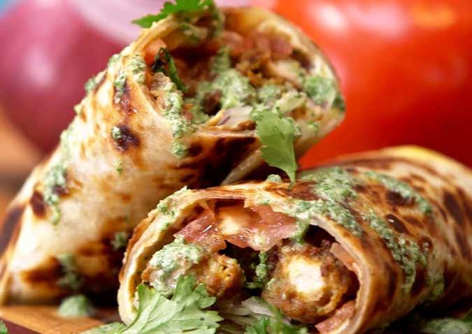 Chicken Kathi Rolls Recipe