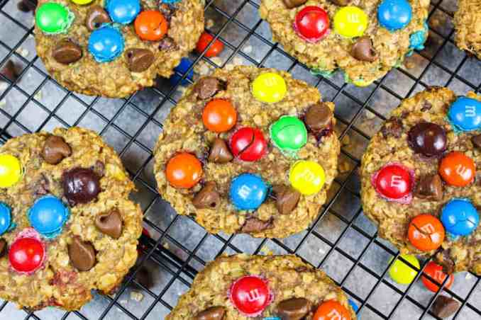 Gluten Free Monster Cookies without Peanut Butter recipe