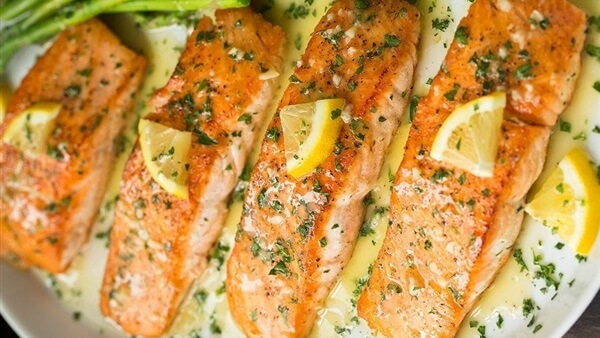 Grilled Fish with Lemon Vegetable Sauce Recipe