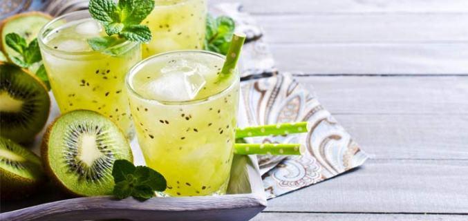 Kiwi Mint Lemonade Delight recipe