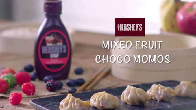 Mixed Fruit Choco Momos recipe