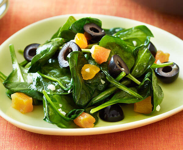 Spinach Olives Recipe
