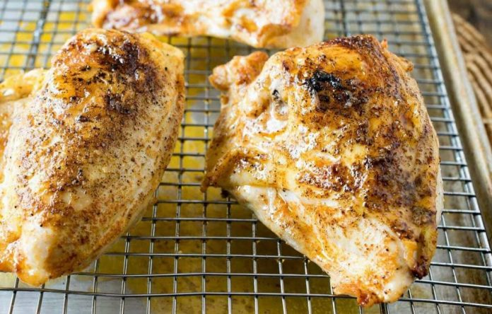 Baked Split Chicken Breast recipe