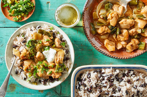 Tex-Mex Chicken with Black Beans and Rice