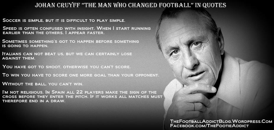 Cruyff Quotes. Johan Cruyff Pinterest