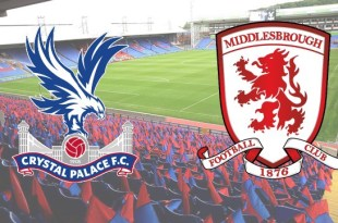 Premier League game of Crystal Palace v Middlesbrough
