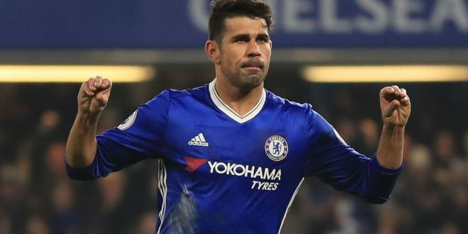 Diego Costa scores for Chelsea in the Premier League
