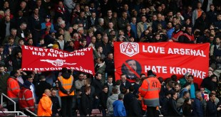 Arsenal fans protest at Arsene Wenger and Stan Kroenke