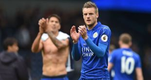 Leicester City striker Jaime Vardy