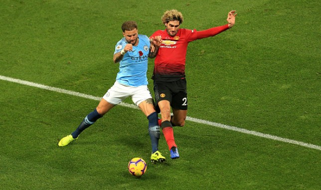 Fellaini vs Man City Getty