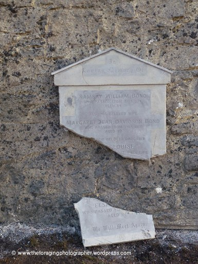 broken memorial to ramsay bond