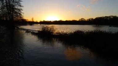 Floods from Tiltham's Corner Road
