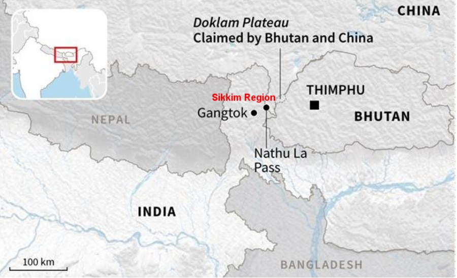border military standoff China, India, Bhutan on the Belt and Road Initiative