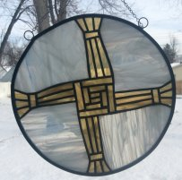 St. Brighid's Cross by AZ Stained Glass LLC