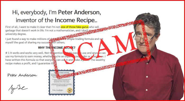 Income Recipe Scam