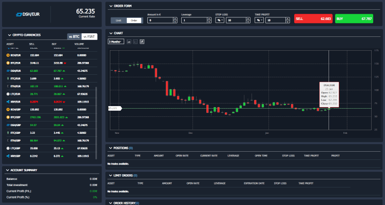 TronMarkets Brokers Trading Platform