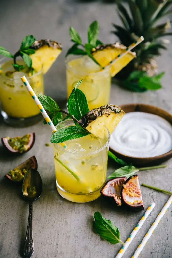 Pineapple Margaritas with Champagne