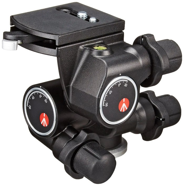 Manfrotto geared head for food photography