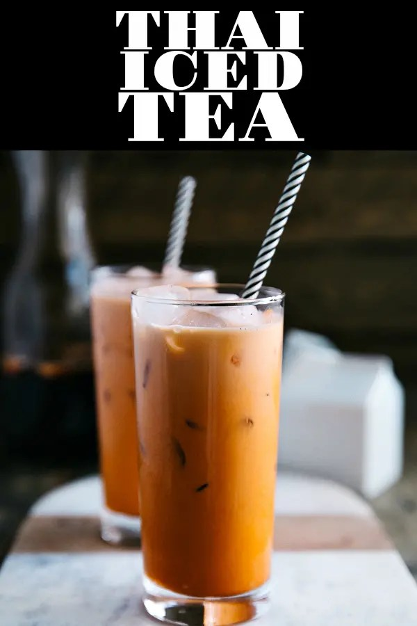 Thai Iced Tea is a delicious and refreshingThai drink made from tea, milk, and sugar. Popular in Southeast Asia and served in many Thai food restaurants, learning HOW TO MAKE THAI ICED TEA is easy and effortless, requiring just a handful of simple ingredients #icedtea #thaicedtea #summerdrinkideas | For this recipe and more visit, https://www.theforkedspoon.com