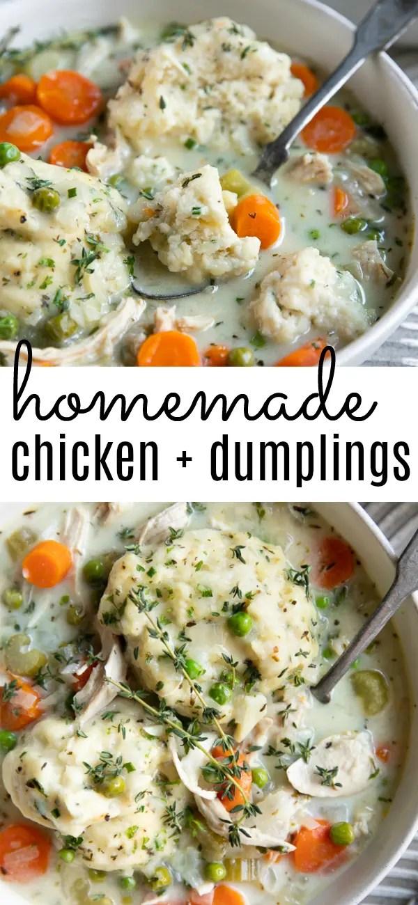 Easy Chicken and Dumplings Recipe #chickenanddumplings #homemadechickenanddumplings #chickenanddumplingsrecipe #dumplings #comfortfood