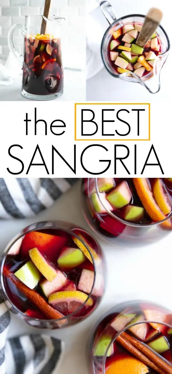 The Best Sangria Recipe #sangria #sangriarecipe #redwinesangria #redwine #cocktail #spanishsangria #brandy | For this recipe and more visit, https://theforkedspoon.com/best-sangria-recipe/