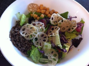 Lotus Root Chips adds appeal and texture to a salad