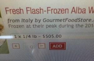 1/4 lb of Frozen Truffles