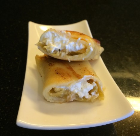 Green Chili and Fat Free Cheese Blintz