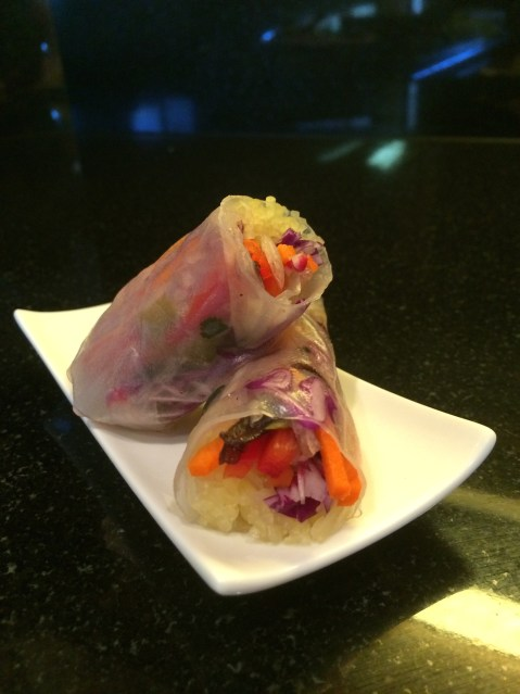 Vegetable stuffed Rice Paper