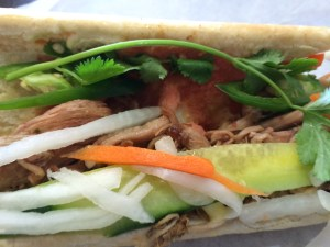 1/2 of Pulled Pork Banh Mi from Banh Mi Bistro Phoenix AZ