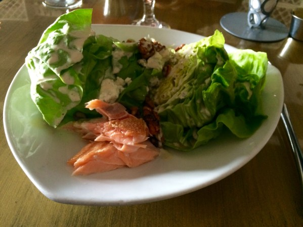 Waldorf Salad with house smoked salmon from Vogue Bistro Surprise AZ