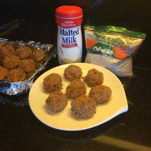 Malted Baked Rice Balls