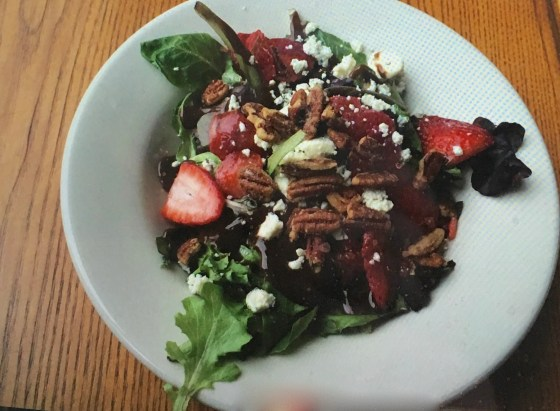 Strawberry and Gorgonzola Salad from Humble Pie Phoenix AZ $10.99 at lunch time that includes a Pizza