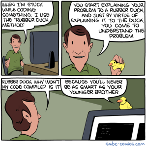 Rubber ducking a business processes