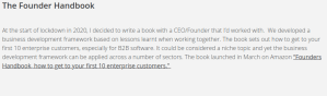 The woman behind The Founder Handbook