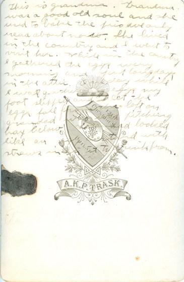 Beautiful handwritten memory
