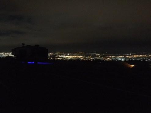 Night time RV Cheyenne Mnt