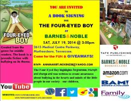 The Four-Eyed Boy Book Signing Poster.