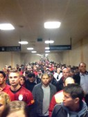 Sardine subway tunnel