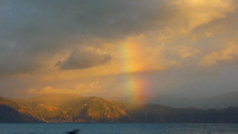 Rainbow over Lake Atitlan, December 2013 by Mark Elmy