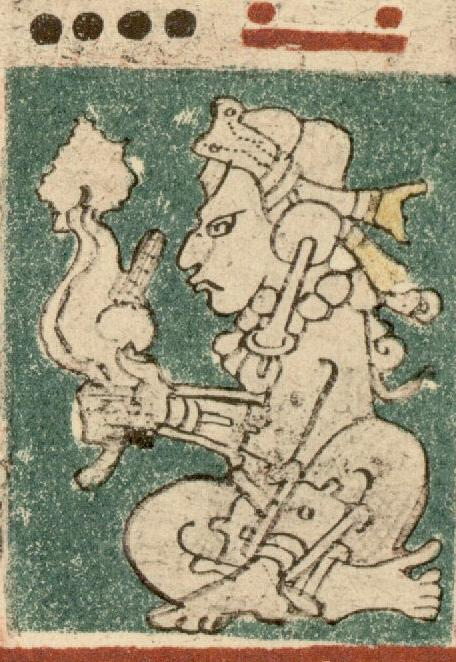 The Wind God, depicted in the Dresden Codex