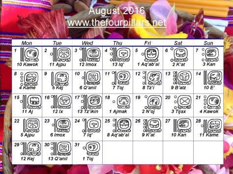 August 2016 Wall Calendar
