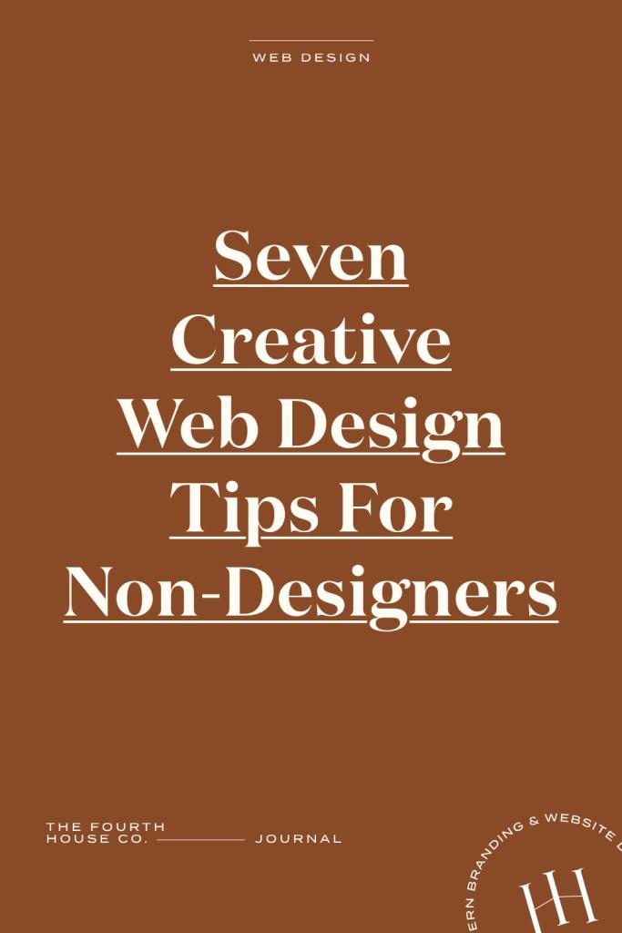 creative web design tips