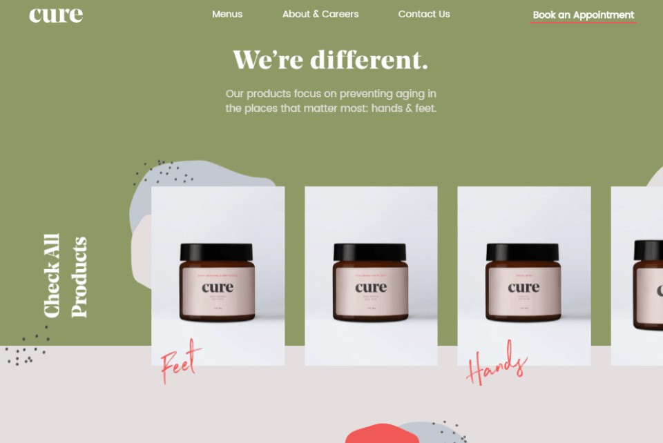 cure skincare brand