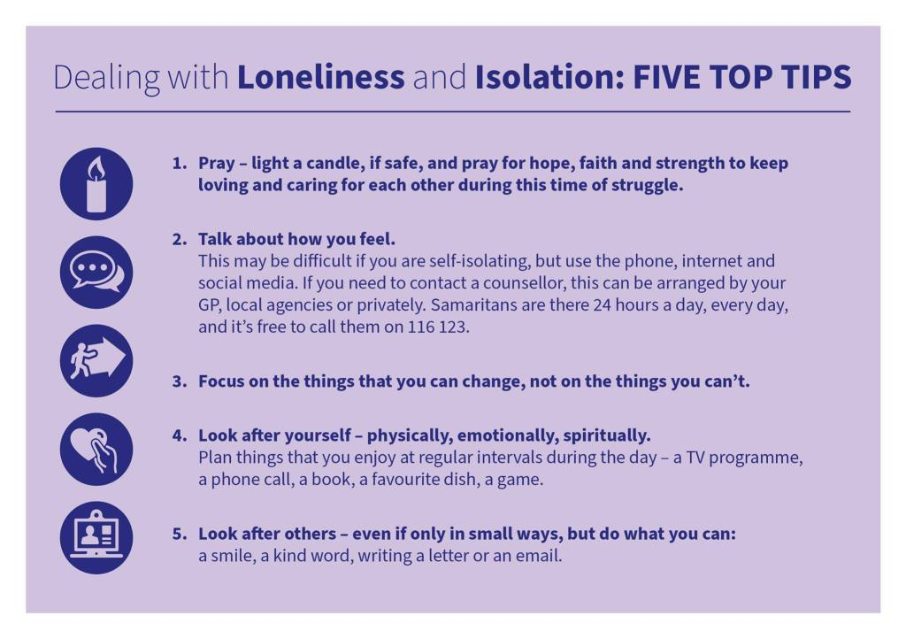 dealing with loneliness and isolation top tips