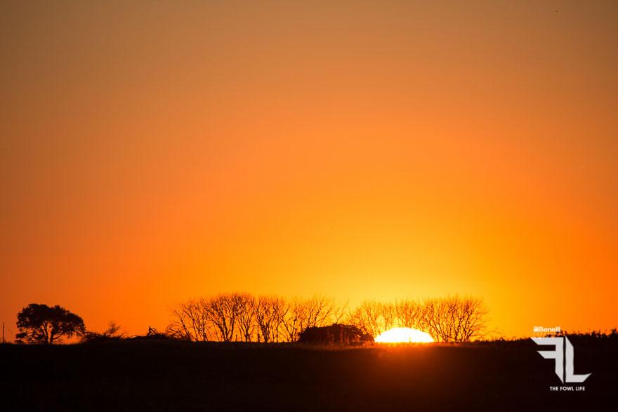 sunset on the film shoot