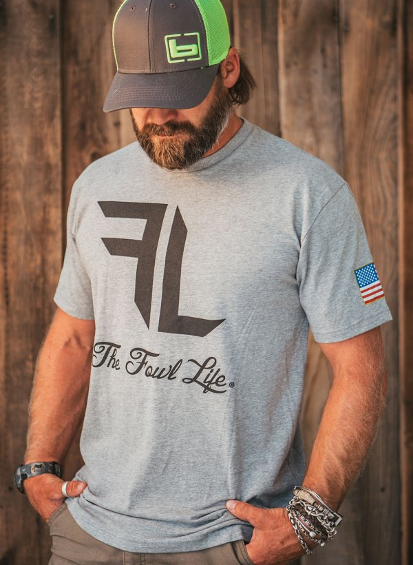 Fowl Life grey shirt